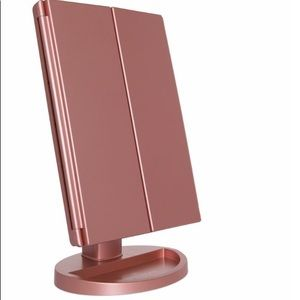 Other - Rose Gold Makeup Mirror LED Vanity Light Magnifyin